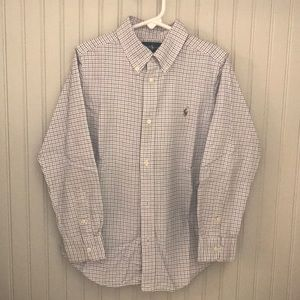 Boys button down, long sleeve shirt